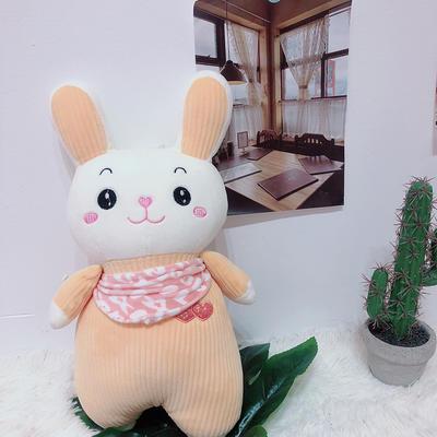 2020新款抱枕中号系列/只 毛绒玩具抱枕靠枕 约40cm 围巾条纹兔-黄40cm