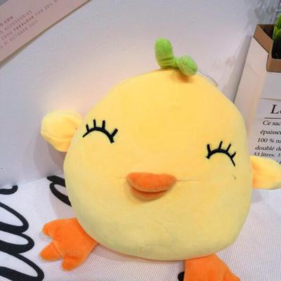 2020新款抱枕小号系列/只  毛绒玩具抱枕靠枕 约30cm 小萌鸡-眯眯眼25cm