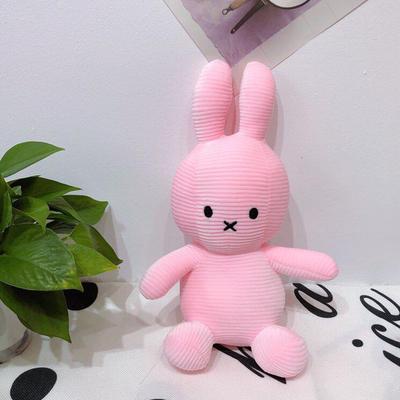 2020新款抱枕小号系列/只  毛绒玩具抱枕靠枕 约30cm 抽条条纹兔-粉35cm