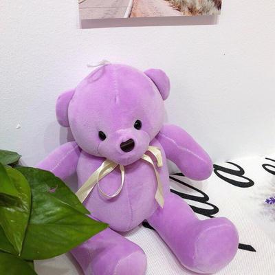 2020新款抱枕小号系列/只  毛绒玩具抱枕靠枕 约30cm 关节熊-紫色30cm