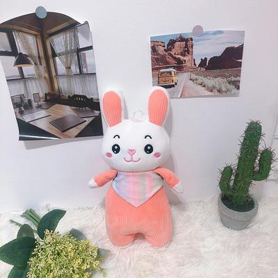 2020新款抱枕8元系列毛绒玩具抱枕靠枕 约35cm 围巾条纹兔橘色