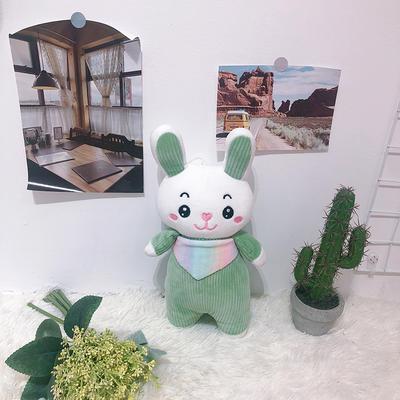 2020新款抱枕8元系列毛绒玩具抱枕靠枕 约35cm 围巾条纹兔绿色