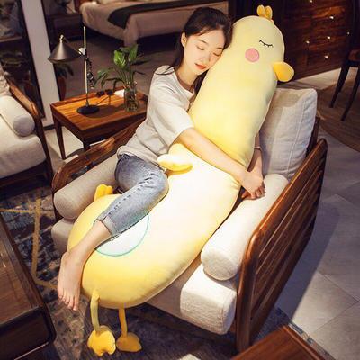 2020新款小黄鸭长条抱枕玩偶 约长95cm 小黄鸭
