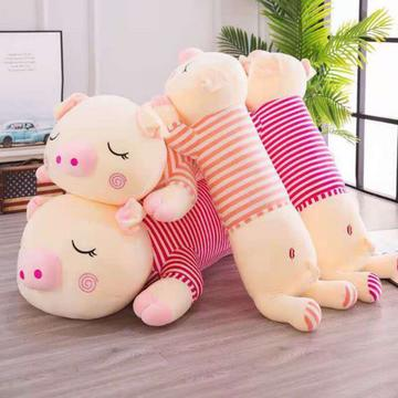 2021新款毛绒玩具长条抱枕趴猪猪