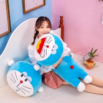 2021新款毛绒玩具长条抱枕叮当猫趴款
