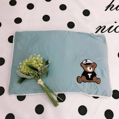 2020新款全棉荞麦壳枕头枕芯40*60cm/只 小熊船长-绿