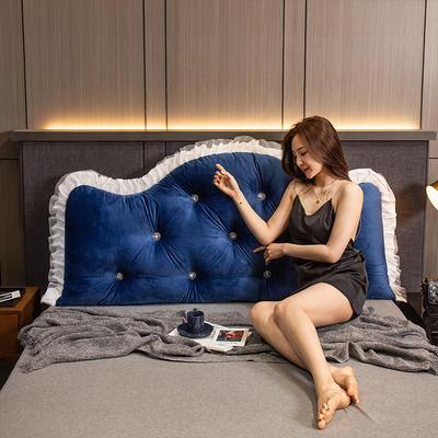 2020新款可拆卸靠背床靠垫靠垫床靠背-安娜系列 120x70cm 安娜-姜黄 需要白扣可以定制 120x70cm 安娜-藏青