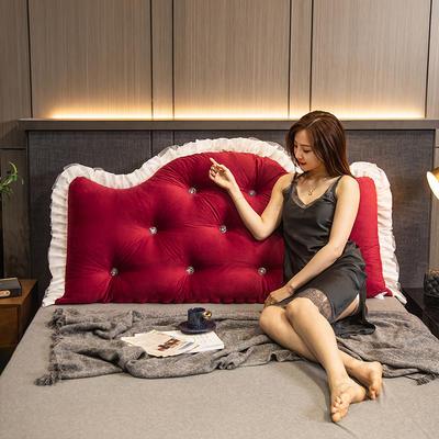 2020新款可拆卸靠背床靠垫靠垫床靠背-安娜系列 120x70cm 安娜-姜黄 需要白扣可以定制 120x70cm 安娜-大红