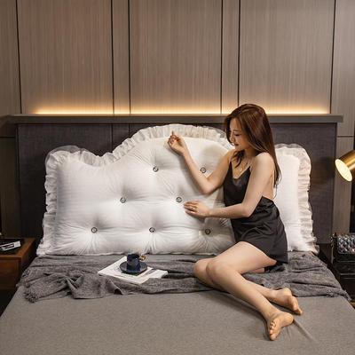 2020新款可拆卸靠背床靠垫靠垫床靠背-安娜系列 120x70cm 安娜-姜黄 需要白扣可以定制 120x70cm 安娜-米白