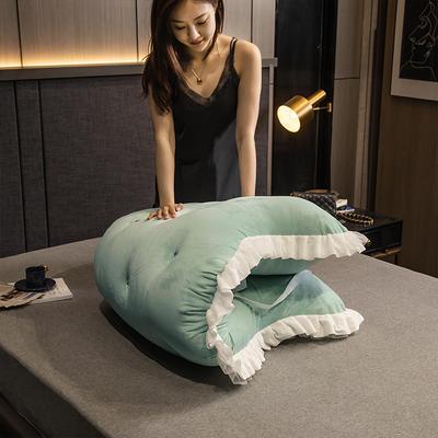 2020新款可拆卸靠背床靠垫靠垫床靠背-安娜系列 120x70cm 安娜-姜黄 需要白扣可以定制 120x70cm 安娜-抹茶绿