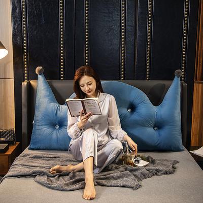 2020新款珍珠棉可拆卸靠背床靠垫靠垫床靠背-简爱系列 120x70cm 简爱-湖蓝