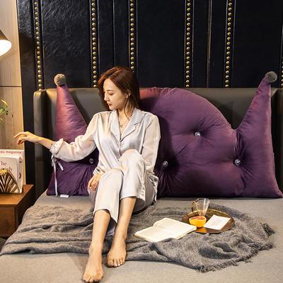 2020新款珍珠棉可拆卸靠背床靠垫靠垫床靠背-简爱系列 120x70cm 简爱-魅紫