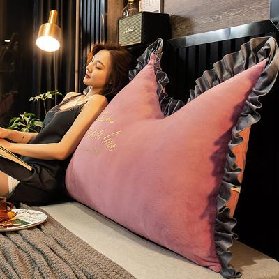 2020新款珍珠棉可拆卸刺绣大靠背床靠垫靠垫床靠背-幸运系列 90x70cm 幸运-豆沙