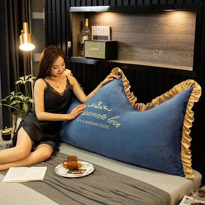 2020新款珍珠棉可拆卸刺绣大靠背床靠垫靠垫床靠背-幸运系列 90x70cm 幸运-湖蓝