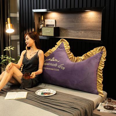 2020新款珍珠棉可拆卸刺绣大靠背床靠垫靠垫床靠背-幸运系列 90x70cm 幸运-魅紫