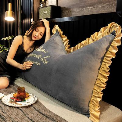 2020新款珍珠棉可拆卸刺绣大靠背床靠垫靠垫床靠背-幸运系列 90x70cm 幸运-烟灰