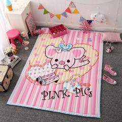 韩式地垫 145*195cm 粉红小猪