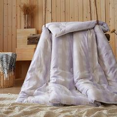 2016年圣艺莱新款冬被 摩卡暖绒被 紫格 150x200cm 紫格