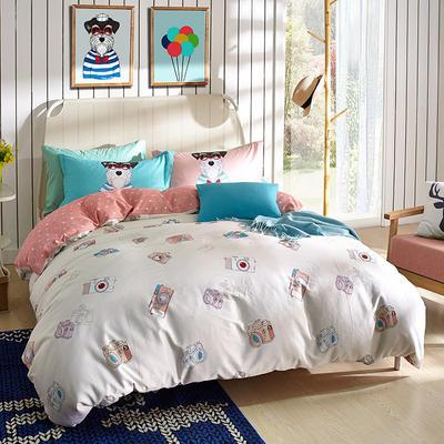 2017年春夏新款13376全棉四件套只有标准(美好记忆) 1.5m(5英尺)床 乳白色