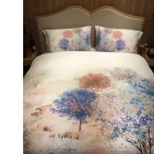 2017年秋冬新款磨毛四件套(落木清和) 1.8m(6英尺)床 花卉