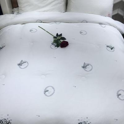 2017年羽丝绒冬被-水洗植绒被-豆角 200X230cm 花色