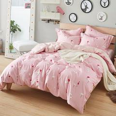 2018年春夏新品13376活性全棉四件套-时尚溢彩 1.5m(5英尺)床 花色