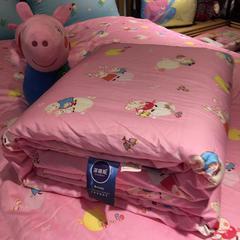 圣艺莱 2018儿童棉花被 150x200cm 棉花被-佩奇-粉