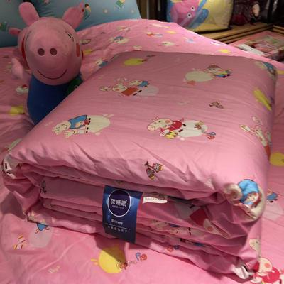 2018儿童棉花被 150x200cm 棉花被-佩奇-粉