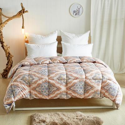 加厚保暖羽丝绒冬被 200X230cm7.8斤 罗马假日-卡其