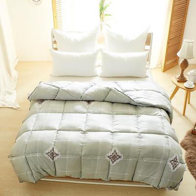 加厚保暖羽丝绒冬被 200X230cm7.8斤 雅典-灰