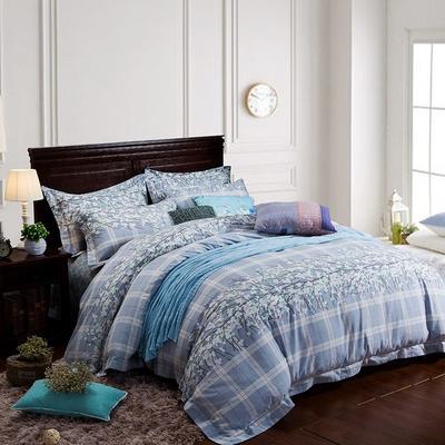 圣艺莱苹果家纺2016年蓝海深睡眠醇静暖绒四件套【兰语琪】 1.5m(5英尺)床 天蓝色