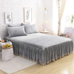 单床裙 150cmx200cm 淡灰色