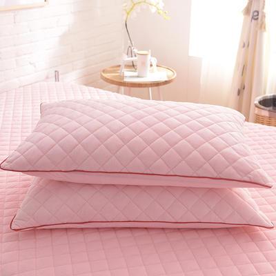 2019新款水晶绒单枕套 48cmX74cm/一对 粉玉色