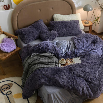 2020新款水貂绒单被套 180x200cm 深薰紫