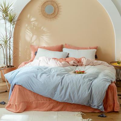 2020新款冬日玛卡龙色系牛奶绒四件套 1.8m床单款四件套 蜜橙色