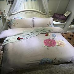 徐大大贡缎磨毛夹棉床笠保暖四 六件套实拍系列 尺寸1四件套 茱蒂斯