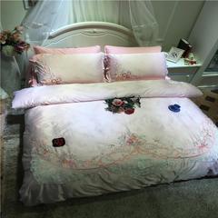 徐大大80臻丝夹棉床裙保暖四 六件套系列实拍 尺寸1四件套 玛莎