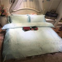 徐大大80臻丝夹棉床裙保暖四 六件套系列实拍 尺寸1四件套 梦娜