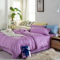 徐大大贡缎长绒棉纯色套件枕套被套床单单品 枕套一对 丁香紫