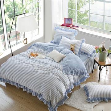 恩和家纺    2016水晶绒色织 床笠式床裙款系列8色