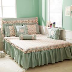 恩和家纺   单品公主床裙 120cmx200cm 洛丽塔 绿色