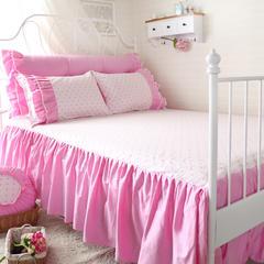 恩和家纺   印花床裙款系列单品床裙 120cmx200cm 粉嘟嘟