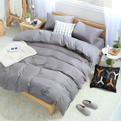 四件套 全棉四件套 纯色套件 13372纯色全棉四件套 恩和家纺 1.2m(4英尺)床 藏青