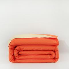 恩和家纺   双拼单品被套 155x205cm 桔色加杏黄