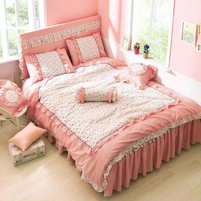 恩和家纺   韩版全棉公主套件系列 1.2m(4英尺)床 洛丽塔-玉色