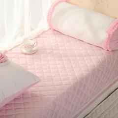 恩和家纺   韩式小清新飘窗垫 超柔短毛绒款    压蕾丝花边款 90*90cm 粉色