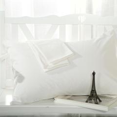 恩和家纺 纯色单品枕套 13372全棉 47cmx74cm 白色