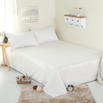 床单 纯色床单 全棉40支学生床单 13372面料 140cmx230cm 本白