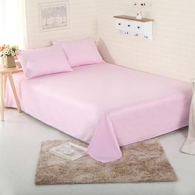 床单 纯色床单 全棉40支学生床单 13372面料 140cmx230cm 粉色