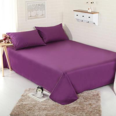 床单 纯色床单 全棉40支学生床单 13372面料 恩和家纺 140cmx230cm 冷紫